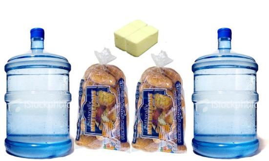 Water Cooler Jug, Potatoes, butter - 102lbs